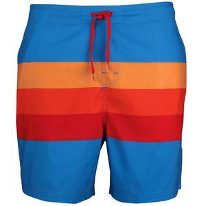 Stuf Laos Herren Beachshorts Badeshorts - 136020-5002 blau/orange/rot