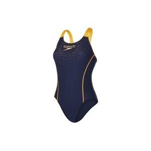 Speedo Sports Logo Medialist Damen Badeanzug - 136134-5568 navy/orange
