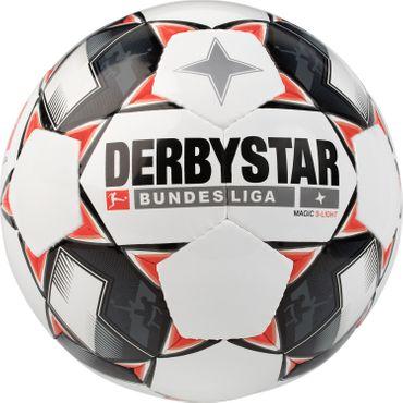 Derbystar Magic S-Light - Bundesliga Jugend Trainingsball - 1862-123 weiß/schwarz/rot
