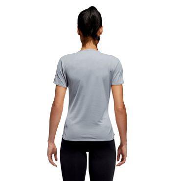 adidas Response Damen Fitness T-Shirt Laufshirt Running Shirt - CF2143 grau