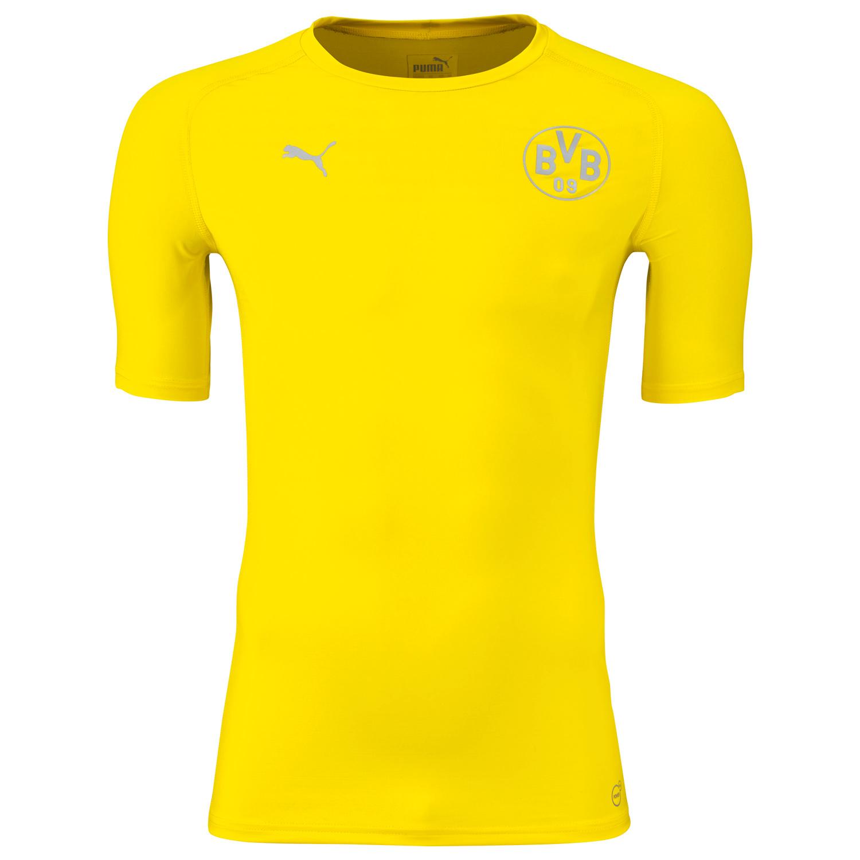 Puma BVB Borussia Dortmund Bodywear Tee Herren Fanshirt T Shirt 749874 01 gelb