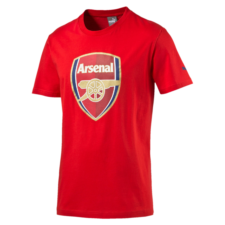 Puma FC Arsenal London Kinder Fan Tee T-Shirt Crest - 749297-01 rot