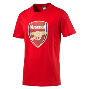 Puma FC Arsenal London Kinder Fan Tee T-Shirt Crest - 749297-01 rot