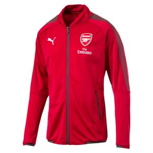 Puma FC Arsenal London Kinder Stadium Jacket mit Sponsor - 751697-03 rot