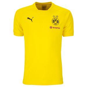 Puma - BVB Borussia Dortmund Kinder Casual Tee mit Sponsor - 751791-01 - gelb
