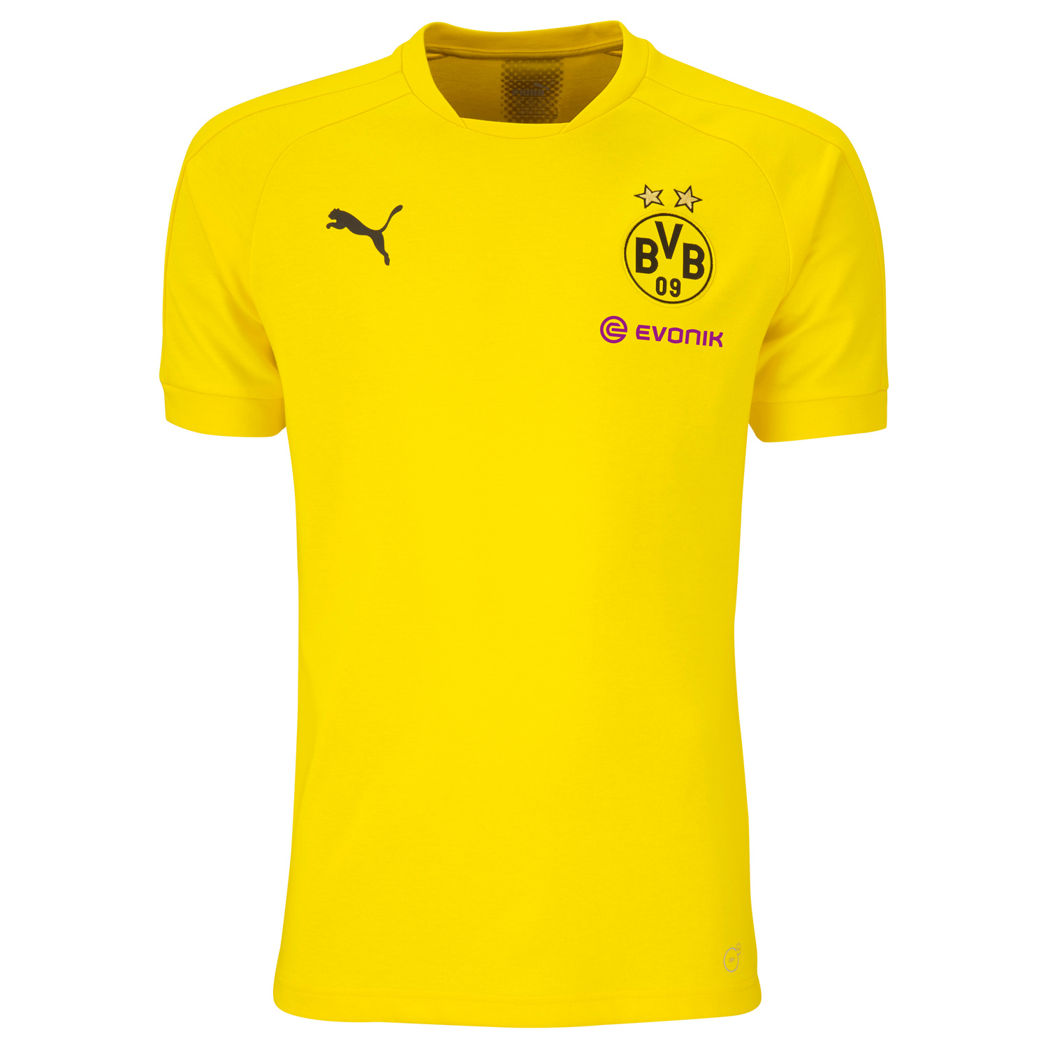 puma bvb borussia dortmund herren casual tee mit sponsor. Black Bedroom Furniture Sets. Home Design Ideas