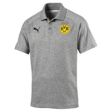 Puma - BVB Borussia Dortmund Herren Casual Poloshirt - 751790-04 grau