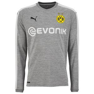 Puma BVB Borussia Dortmund Herren Promo 3rd Langarm Trikot 17/18 - 751661-03 grau