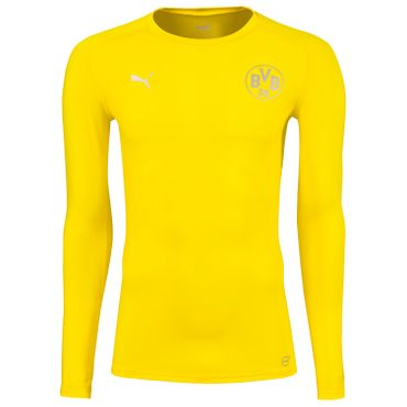Puma BVB Borussia Dortmund Herren Bodywear LS Tee - 749875-01 gelb