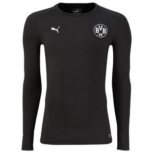 Puma BVB Borussia Dortmund Herren Bodywear LS Tee - 749875-02 schwarz