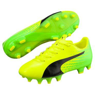 Puma evoSPEED 17.4 FG Jr - Kinder Fußballschuhe Nockenschuhe - 104030-01 gelb/grün