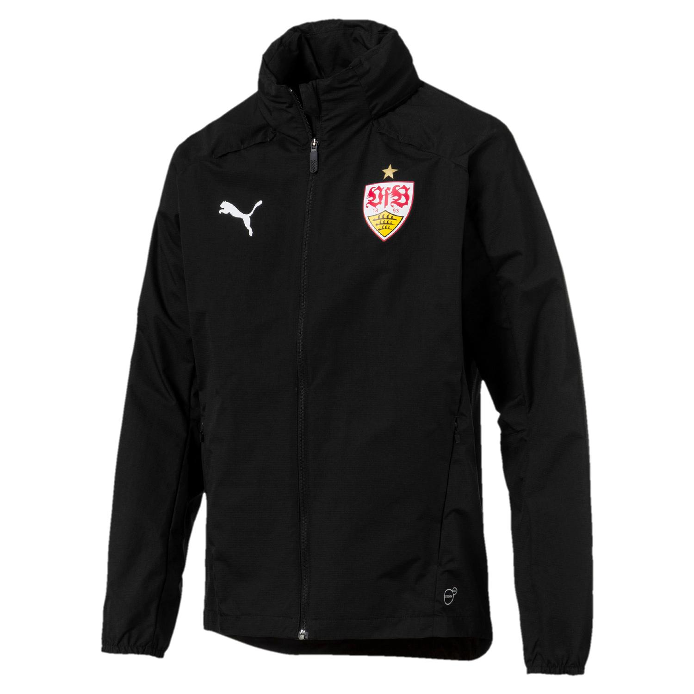 Puma VfB Stuttgart Herren Regenjacke Rain Jacket 18/19- 753622-03 schwarz