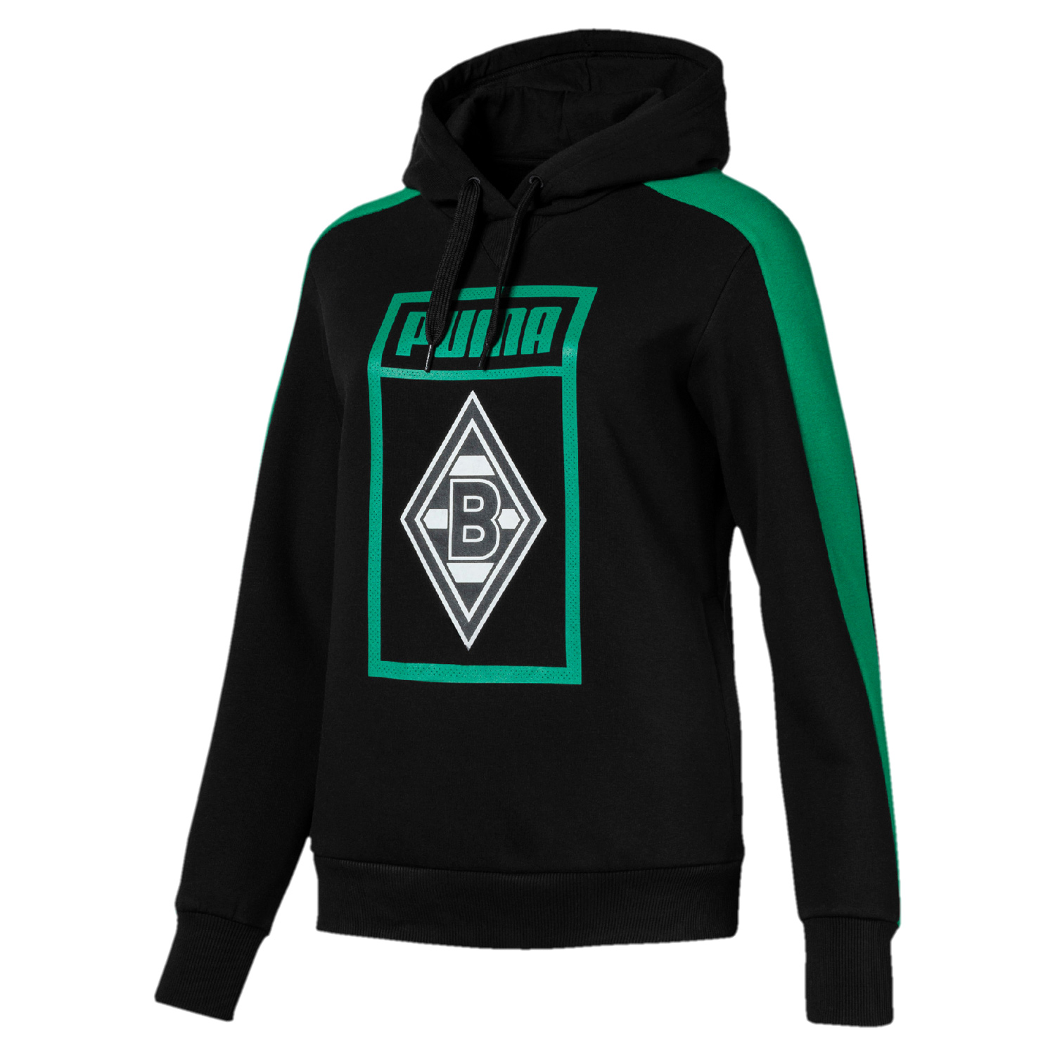 puma borussia m nchengladbach damen shoe tag hoody 754181 01 fanshop national borussia. Black Bedroom Furniture Sets. Home Design Ideas