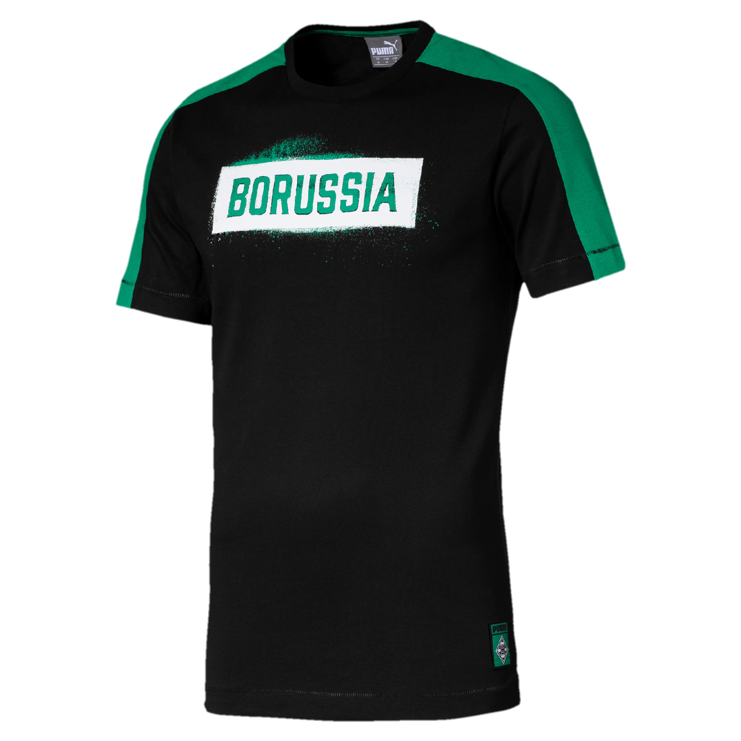 puma borussia m nchengladbach herren stencil tee shirt 754186 01 fanshop national borussia. Black Bedroom Furniture Sets. Home Design Ideas