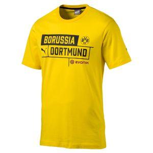 Puma BVB Borussia Dortmund - Herren Tee 09 T-Shirt Shirt mit Sponsor - 762208-01