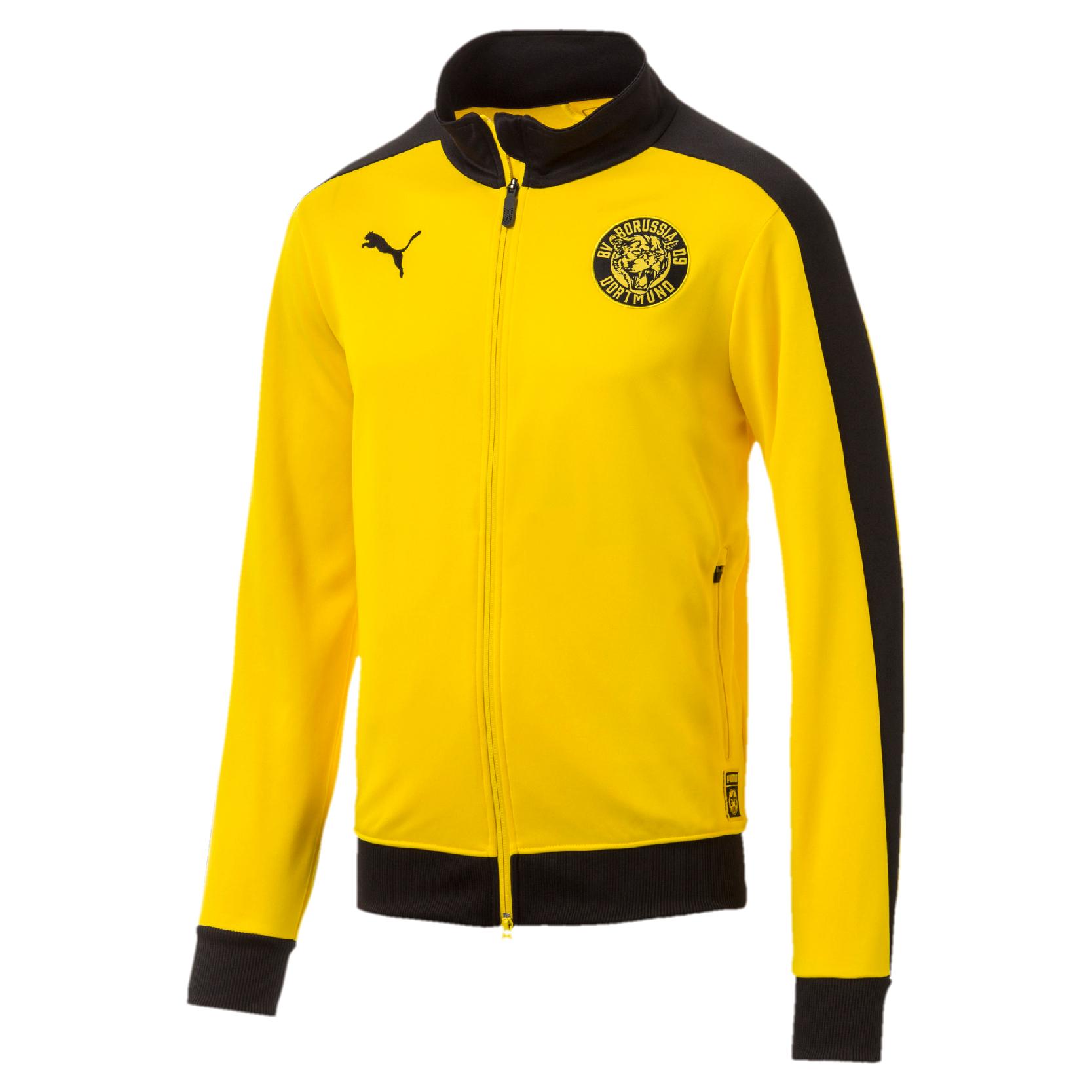 Gelb 01 Sweatjacke T7 Track 754101 Jacket Bvb Dortmund Herren Puma Borussia R34Lqc5Aj