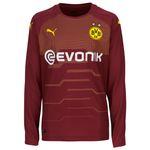 Puma BVB Borussia Dortmund Kinder Torwarttrikot Longsleeve 18/19 - 753327-03 weinrot 001