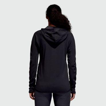 adidas Fleece Hoody Jacket - Damen Kapuzenjacke - CZ8075 schwarz