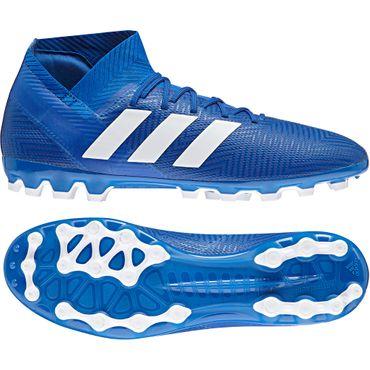 adidas Nemeziz 18.3 AG - Herren Fußballschuhe Kunstrasenschuhe - BC0301 blau/weiß