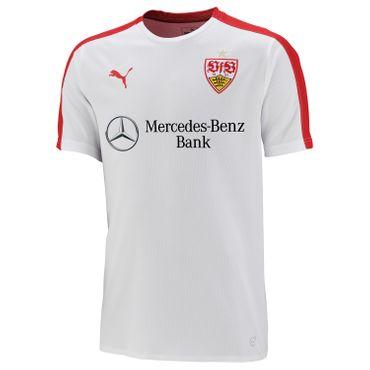 Puma VfB Stuttgart - Kinder Stadion Jersey Shirt mit Sponsor - 924662-01