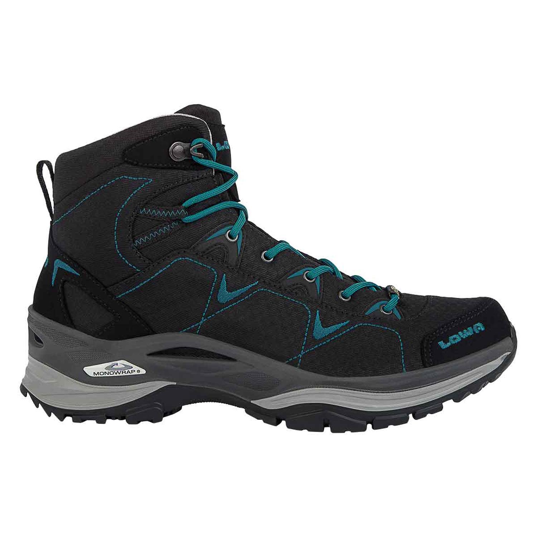 premium selection a15ac a342f Lowa Ferrox GTX MID - Damen Wanderschuhe Trekking Schuhe - 520615-9977  schwarz/petrol