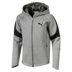 Puma Evostripe Move - Jungen Zip Hoody Kapuzenjacke - 851462-03 grau/schwarz