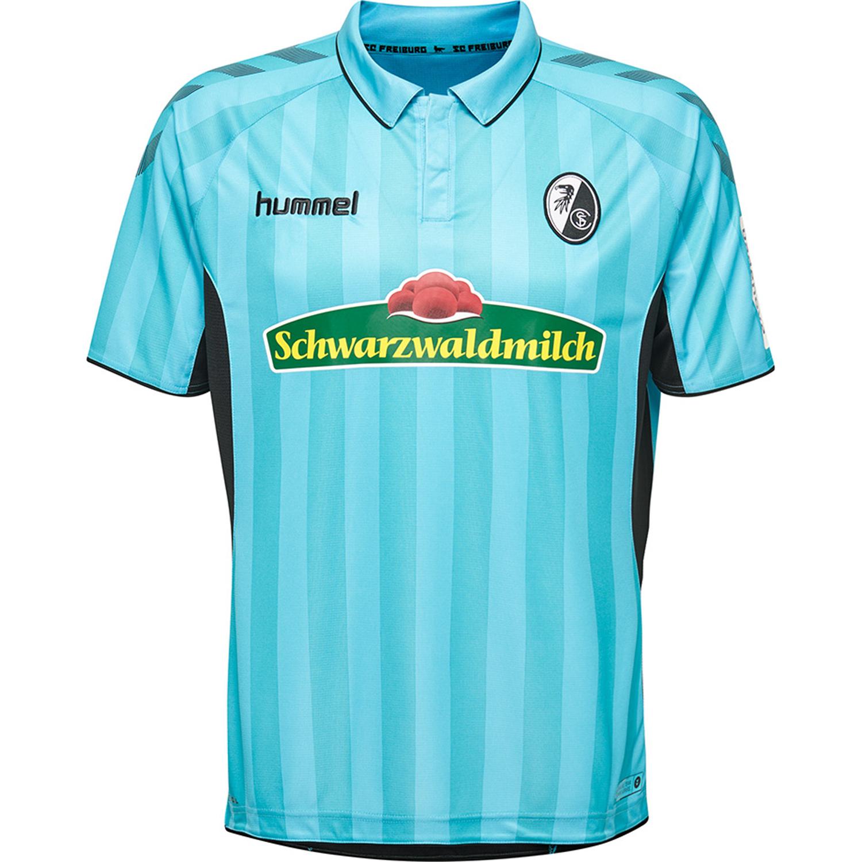 e31c0cd713ce9a Hummel SC Freiburg Herren Ausweichtrikot 18 19 - 202369-8369 blau ...