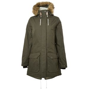 North Bend Sandy - Damen Parka Winterjacke - 136478-6004 oliv