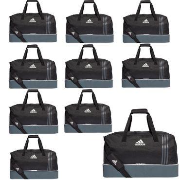 10x adidas Tiro Teambag - Large - Sporttasche mit Bodenfach - B46122 schwarz