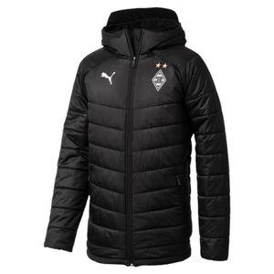 Puma Borussia Mönchengladbach Herren Bench Jacket ohne Sponsor - 754096-03 schwarz