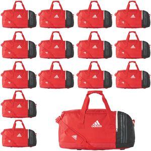 15x adidas Tiro Teambag - Medium - Sporttasche mit Schuhfach - BS4739 - rot
