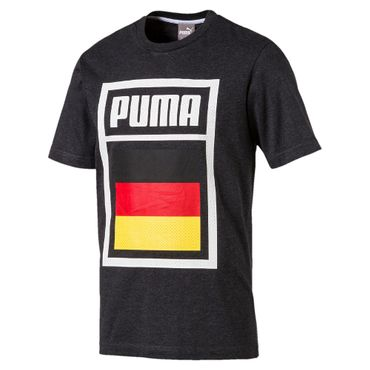 Puma Forever Football Country Germany Cotton Tee Herren T-Shirt - 752649-03 grau