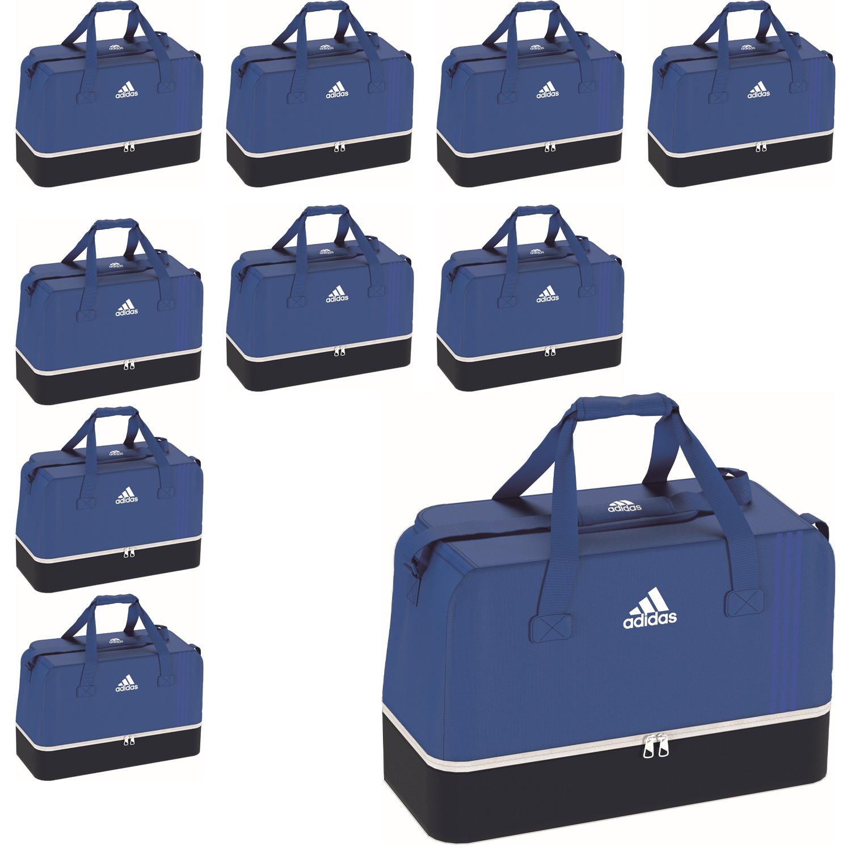 a6e633840f1d6 10x adidas Tiro Teambag - Large - Sporttasche mit Bodenfach - BS4755 blau