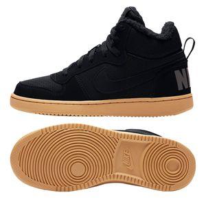 Nike Court Borough Mid Winter GS - Kinder Sneaker Freizeitschuhe - AA3458-002 schwarz