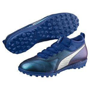 Puma ONE 3 Leather TT - Herren Fußballschuhe Multinockenschuhe - 104745-03 blau