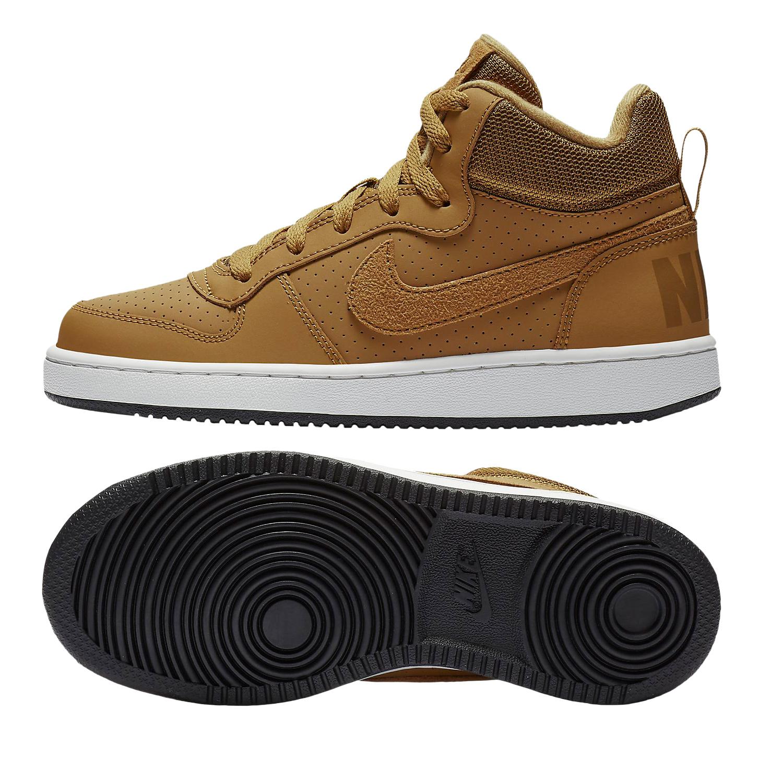 Nike Court Borough Mid GS Kinder Sneaker Freizeitschuhe 839977 701 camel