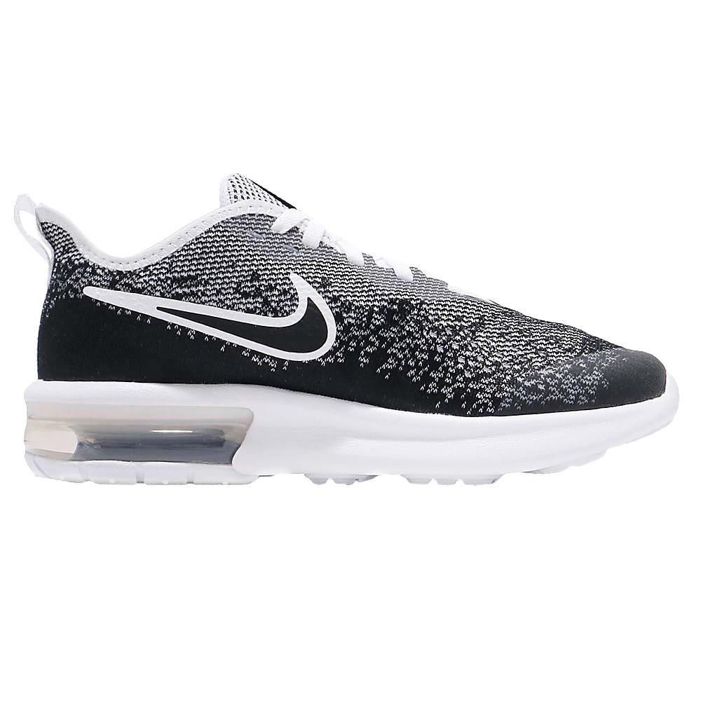 Details zu Nike Air Max Sequent 4 (GS) Kinder Sneaker Freizeitschuh AQ2244 001 schwarzweiß
