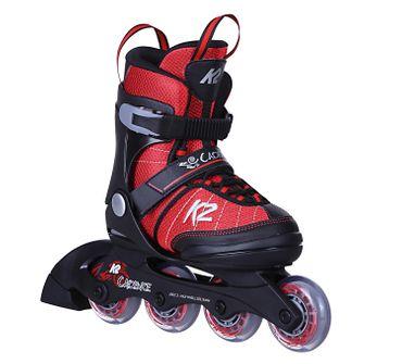 K2 Cadence Jr. Kinder Inliner Inline Skates größenverstellbar 30C0340 - schwarz/rot