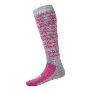 North Bend ExoWool - Ski Socken Wollsocken - 136519-4005 pink/grau