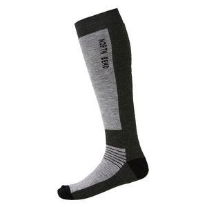 North Bend ExoWool - Ski Socken Wollsocken - 136519-7005 dunkelgrau/schwarz