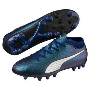 Puma ONE 4 Syn AG Jr - Kinder Fußballschuhe Kunstrasenschuhe - 104780-03 blau/silber