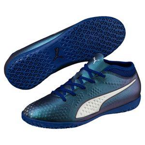 Puma ONE 4 Syn IT Jr - Kinder Fußballschuhe Hallenschuhe - 104783-03 blau/silber
