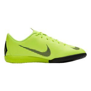 Nike Jr. MercurialX Vapor XII Academy IC - Kinder Fußballschuhe Halle - AJ3101-701 neon