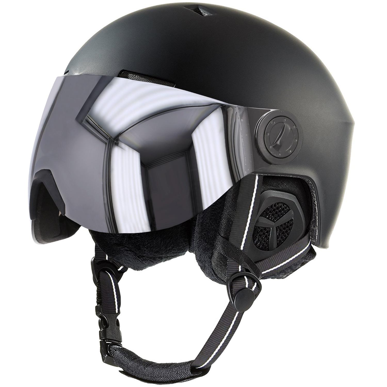 stuf snow visor skihelm snowboard helm mit visier 137464 9000 schwarz wintersport skisport. Black Bedroom Furniture Sets. Home Design Ideas