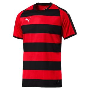 Puma Liga Jersey Hooped - Herren kurzarm Trikot - 703422-03 rot/schwarz