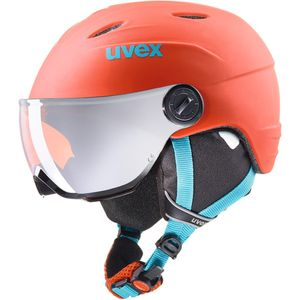 Uvex Junior Visor Pro - Kinder Skihelm Snowboard Helm - S56619131 orange/petrol