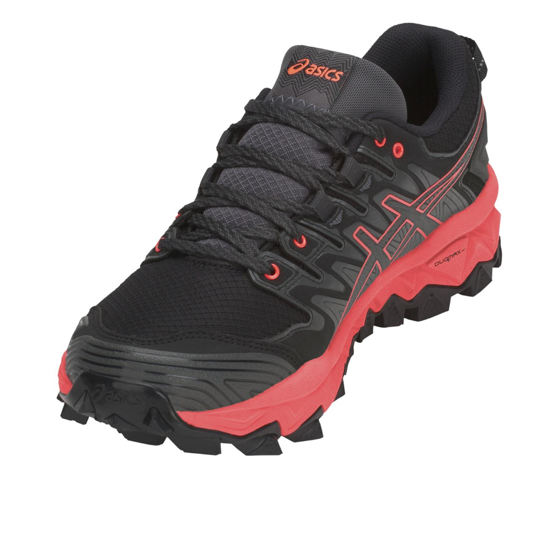 Asics Gel-FujiTrabuco 7 G-TX - Damen Laufschuhe Trail Running Schuhe -  1012A190-020 grau/rot
