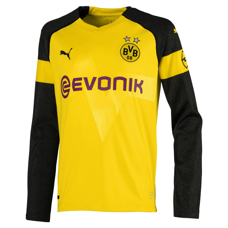 Puma BVB Borussia Dortmund Kinder LS Langarm Heim Trikot
