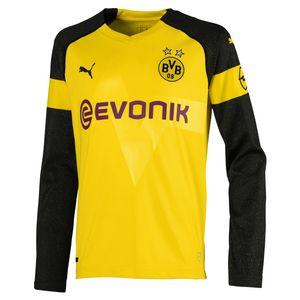 Puma BVB Borussia Dortmund - Kinder LS Langarm Heim Trikot 18/19 - 753313-01 gelb