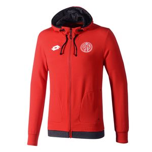 Lotto 1.FSV Mainz 05 - Herren Off Sweat Zip Hoodie Kapuzenjacke - S5381 rot